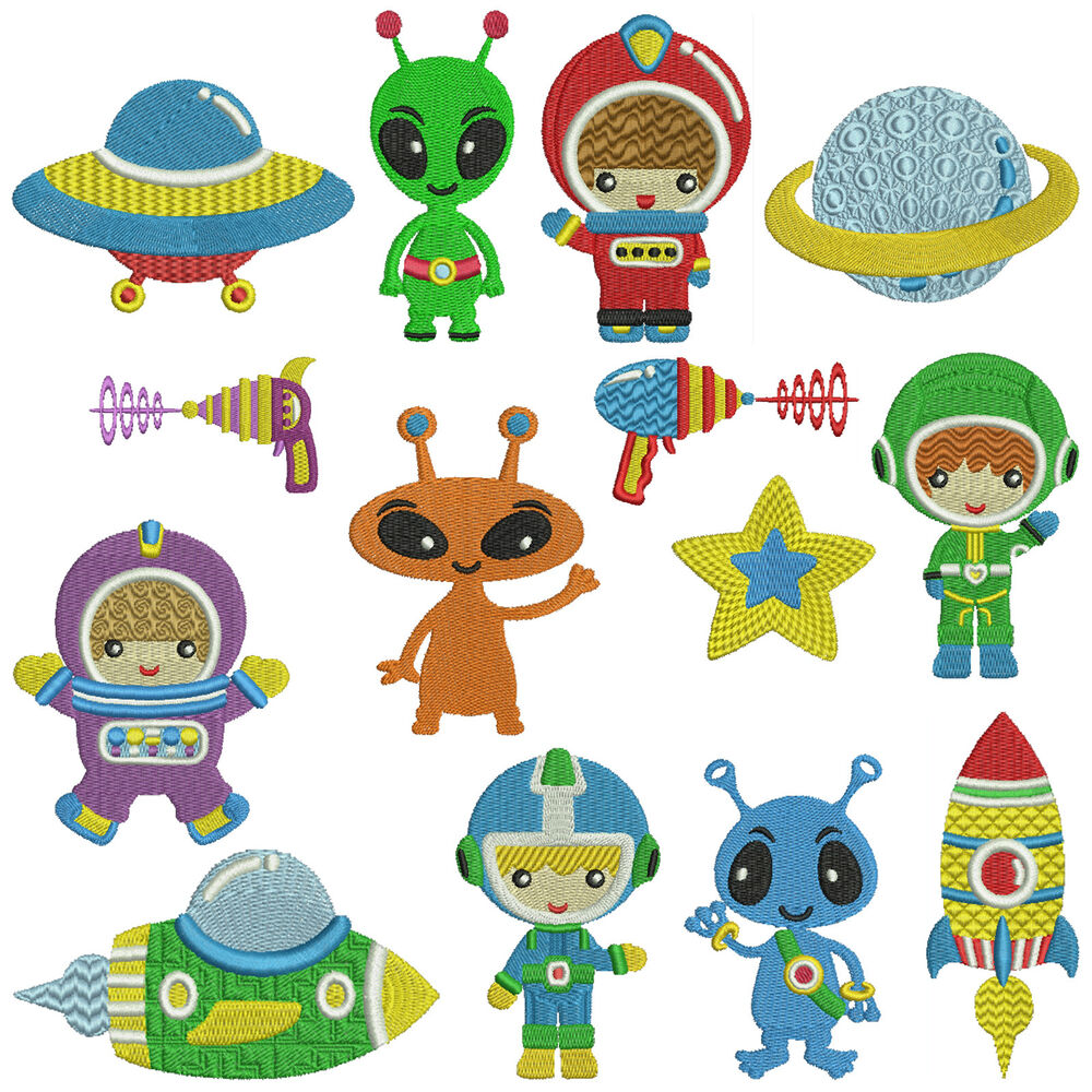 OUTER SPACE * Machine Embroidery Patterns * 14 designs | eBay