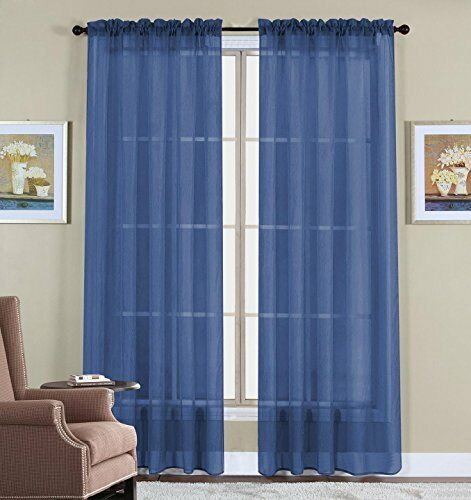 Curtain Drapes New 2 Panel Polyester Sheer Window Voile 60