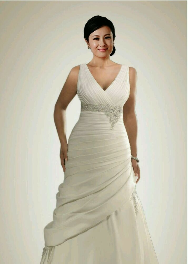 New plus size wedding dress size 20 ebay for Wedding dress in ebay