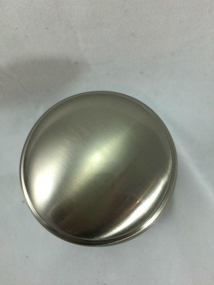 Belvedere Satin Nickel Finish Round Door Knob Full Dummy