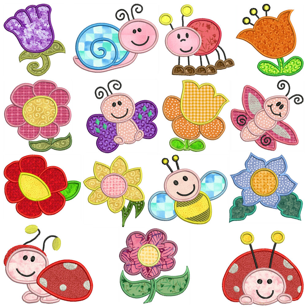 Garden machine applique embroidery patterns 15 for Garden embroidery designs free