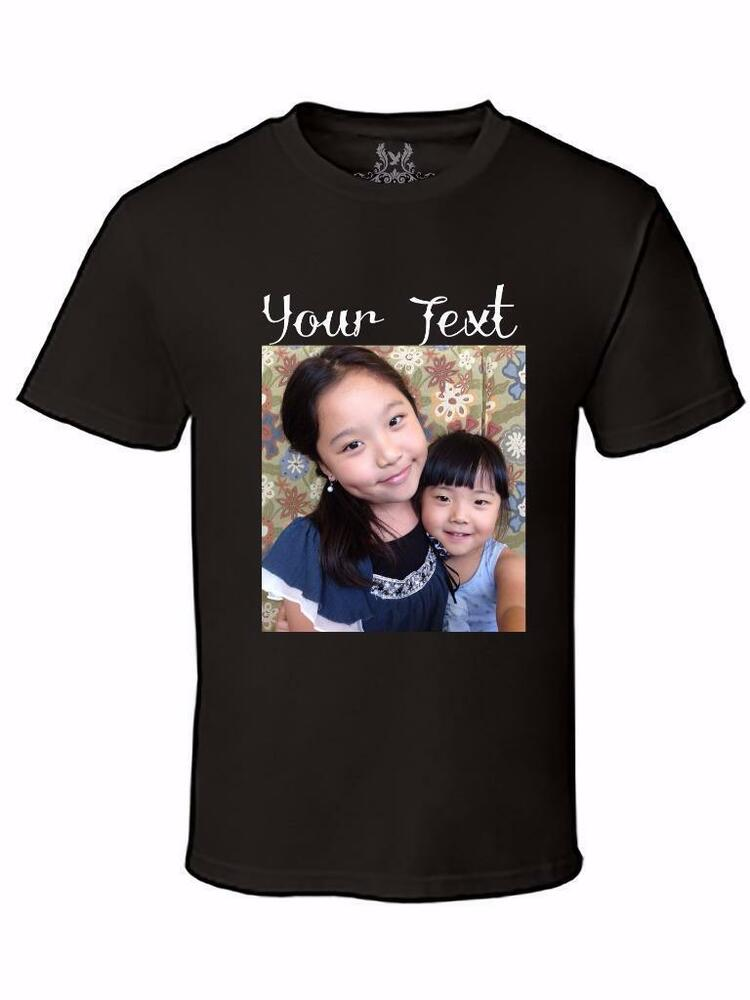 new personalized custom photo text logo dtg digital direct printing t shirt ebay. Black Bedroom Furniture Sets. Home Design Ideas