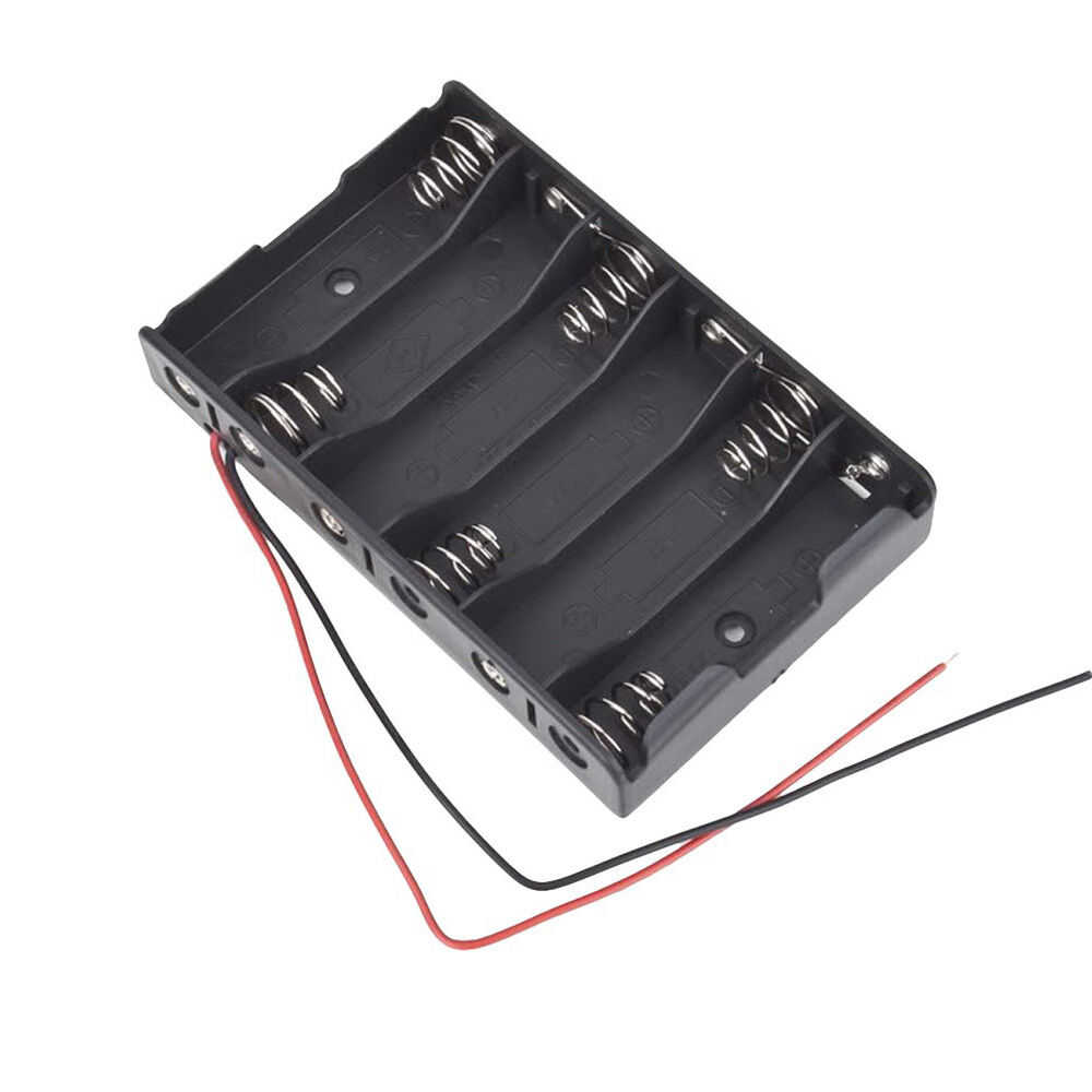 6x1 5v aa 2a cell battery batteries holder storage box 9v case with lead wire lw ebay. Black Bedroom Furniture Sets. Home Design Ideas