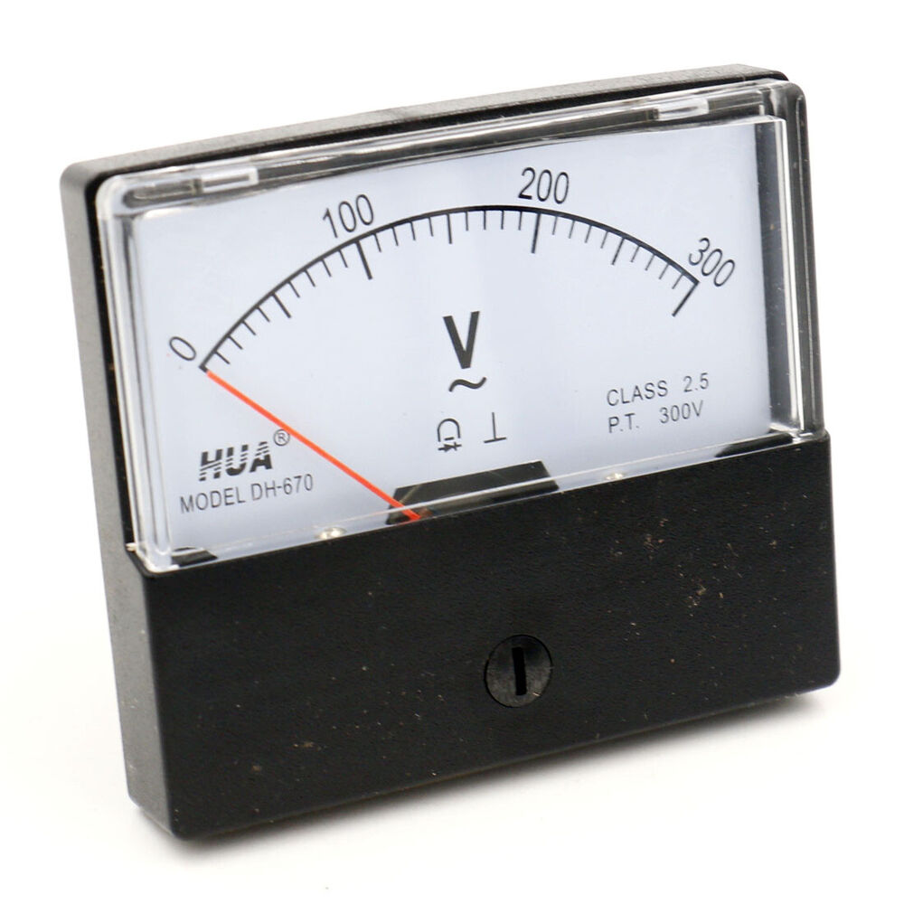 Volt Meters Panel Mount : Ys dc v volt analog panel mount meter voltmeter ebay