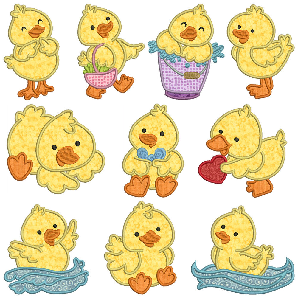 Ducky machine applique embroidery patterns 10 for Appliques design