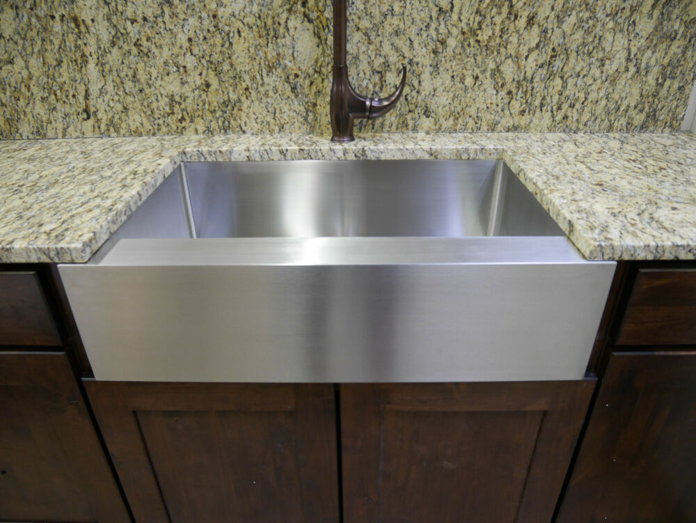 stainless steel apron front kitchen sinks 36 quot stainless steel farmhouse front apron single bowl 9384