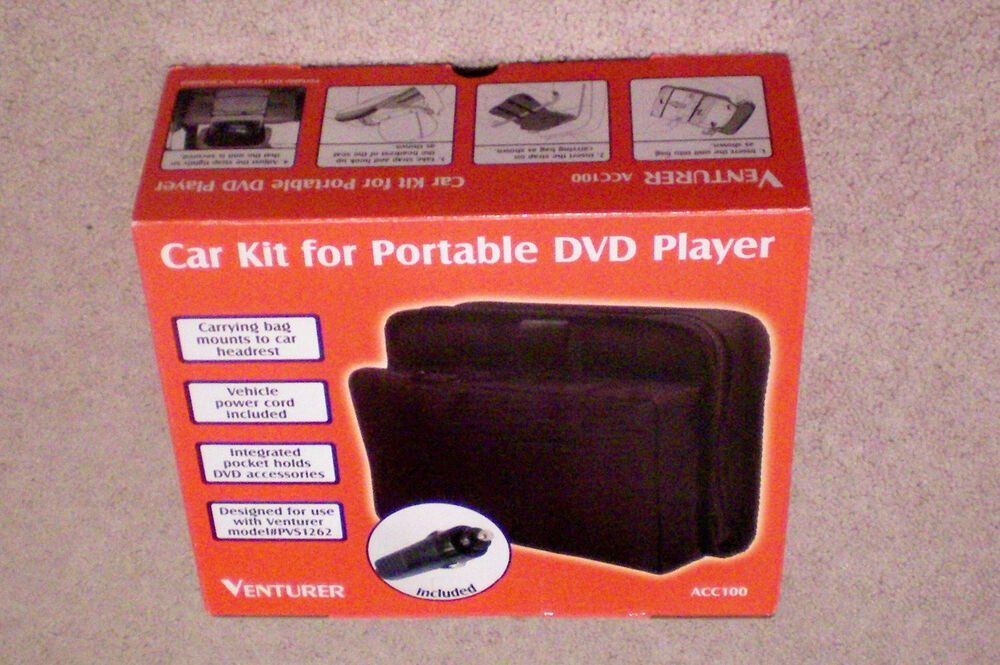 Car Kit For Portable Dvd Player Carrying Bag Mounts To