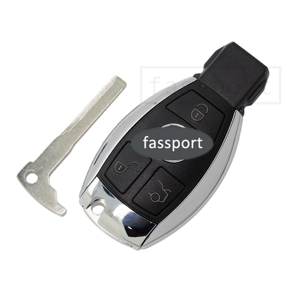 Smart Key Shell Uncut Blank Fit For Replace Mercedes