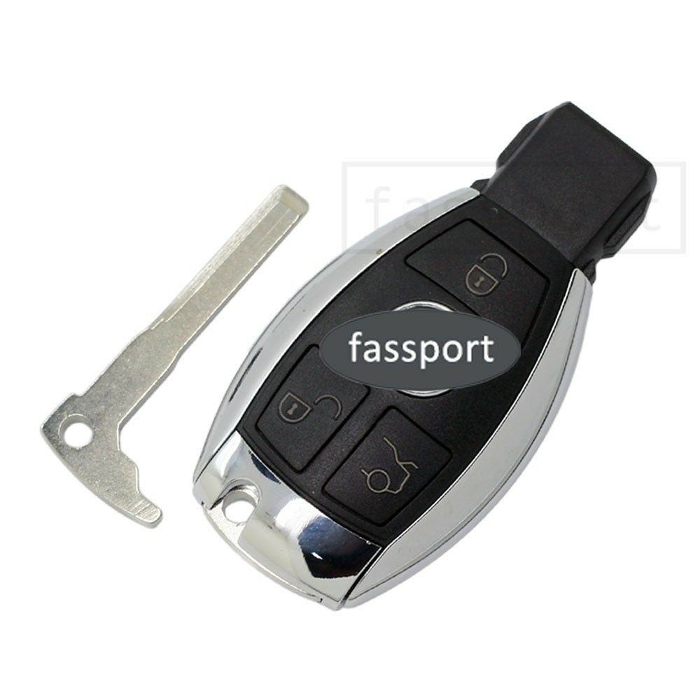 Smart key shell uncut blank fit for replace mercedes for Mercedes benz key fob