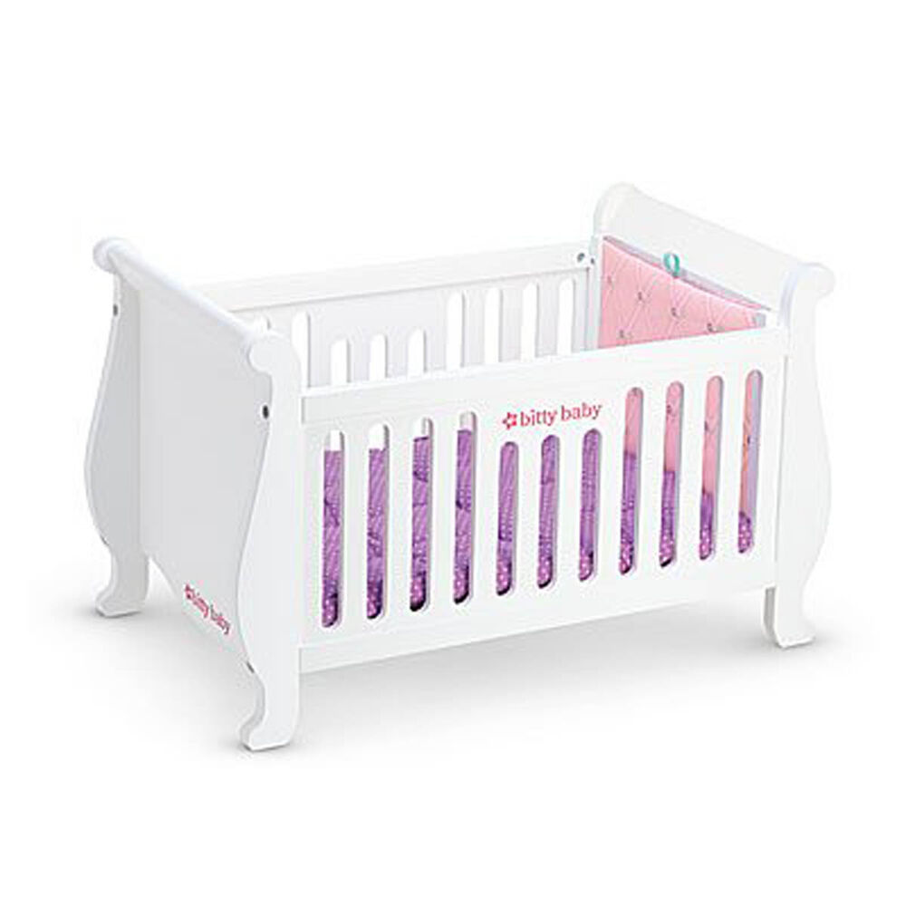 american girl bitty baby sweet dreams crib for 15 baby doll bed furniture new ebay. Black Bedroom Furniture Sets. Home Design Ideas