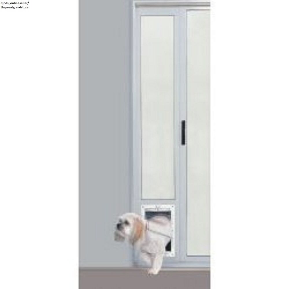 Patio Panel Pet Door Dog Cat Sliding Glass Aluminum Flap Exterior