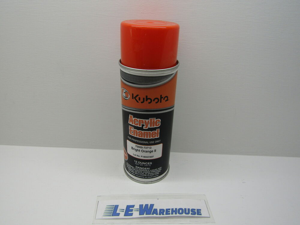 1 can new kubota oem orange touch up spray paint 70000. Black Bedroom Furniture Sets. Home Design Ideas