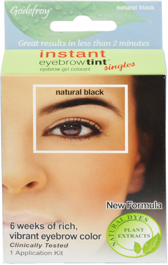 New Formula Godefroy Instant Eyebrow Tint Natural Black 3