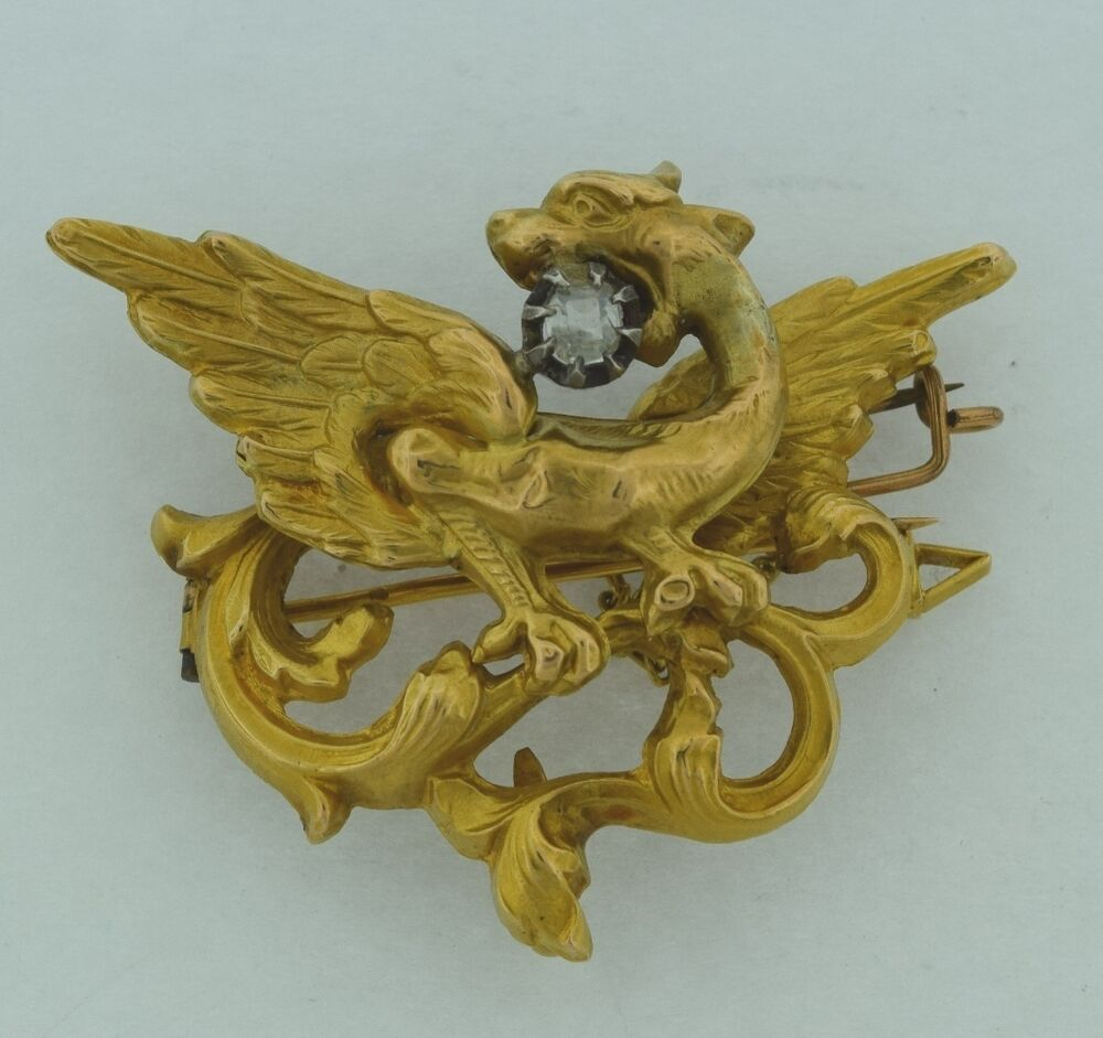 Beautiful Antique French Marked 18k Gold and Diamond ...