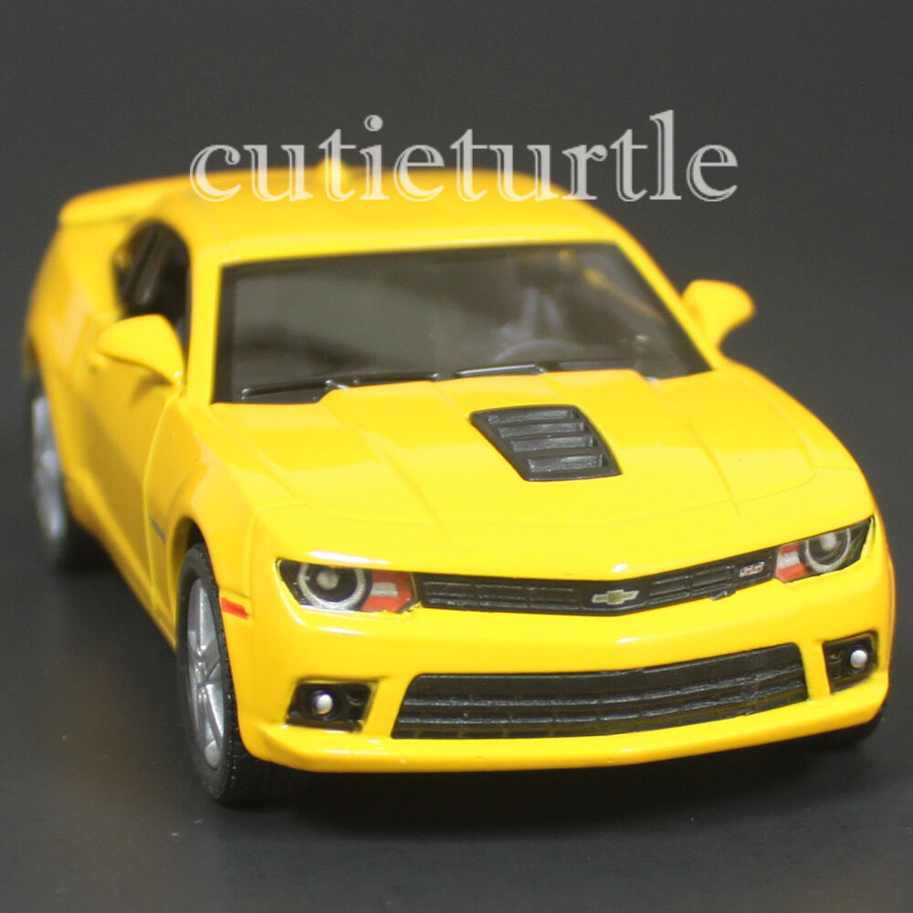 Kinsmart 2014 Chevrolet Camaro SS 1:38 Diecast Toy Car All Yellow ...