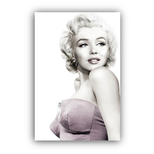 Marilyn Monroe Canvas Framed Wall Art Print Pink Dress