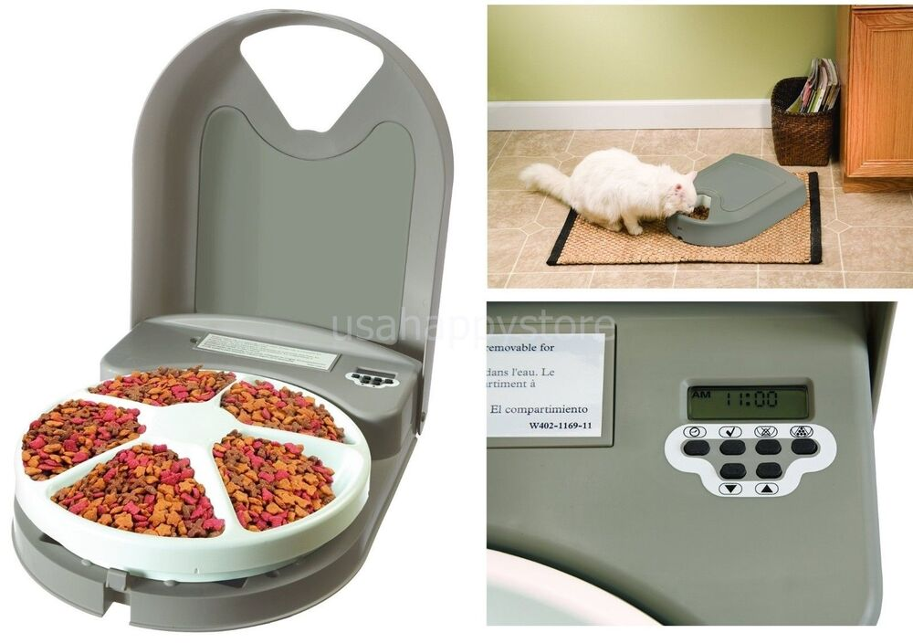 Petsafe Automatic Feeder Timer 5 Meal Dog Cat Pet Food