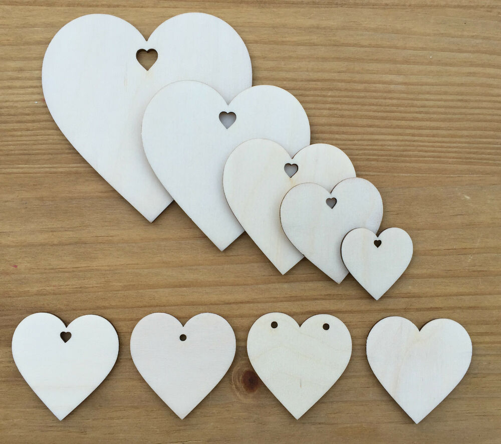 Wooden shapes heart shape birch wood wedding craft love for Wooden hearts for crafts