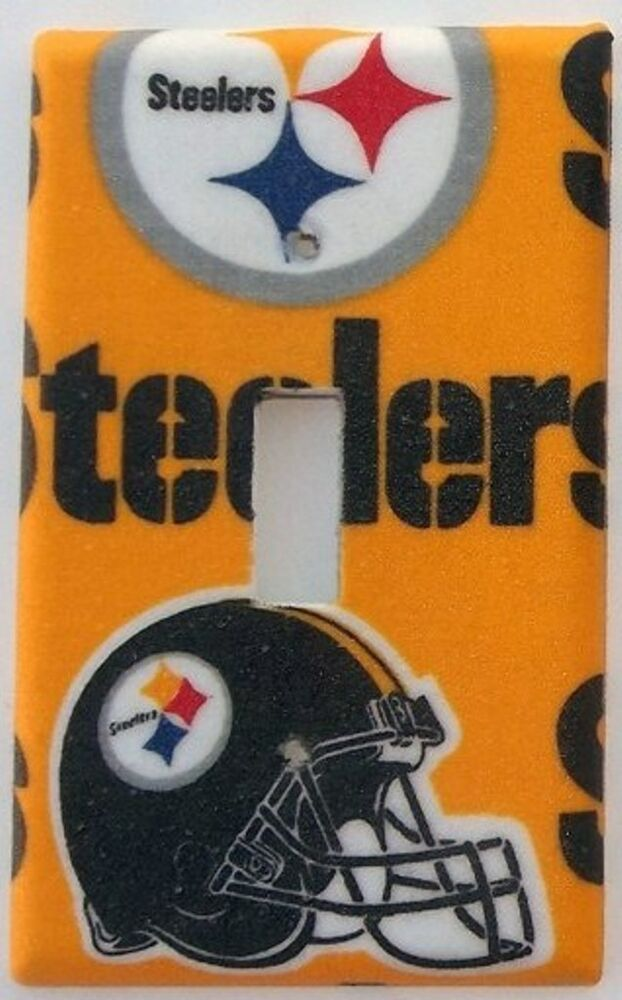Steelers Football Sports Light Switch Plate Cover Outlet