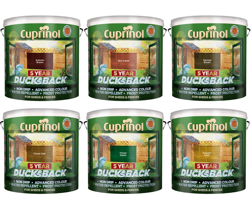 Cuprinol 5 year ducksback shed fence stain 9 litres all - Cuprinol exterior wood paint colours ...