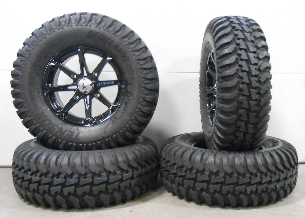 msa black diesel 15 utv wheels 30 regulator tires polaris rzr 1000 xp ebay. Black Bedroom Furniture Sets. Home Design Ideas