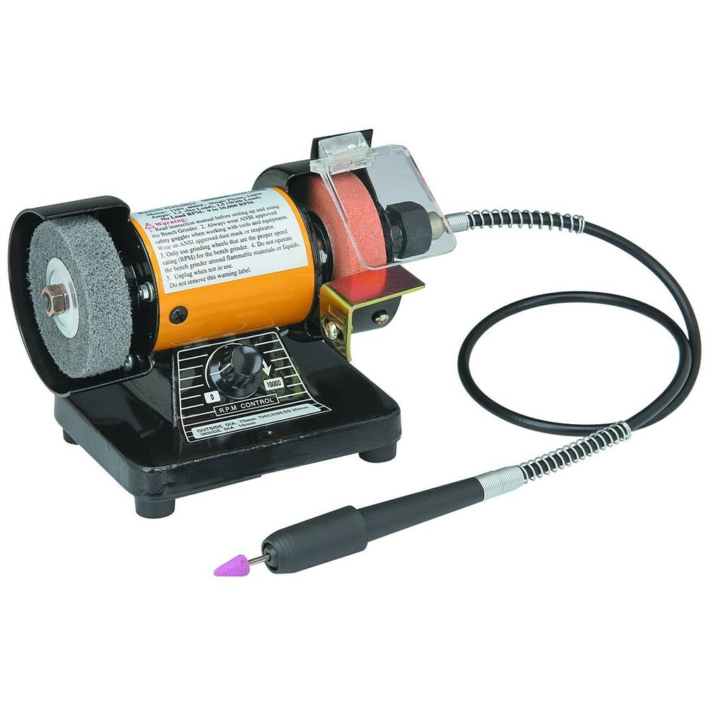 Bench Grinder With 31 Quot Flex Shaft Amp Variable Speed Control