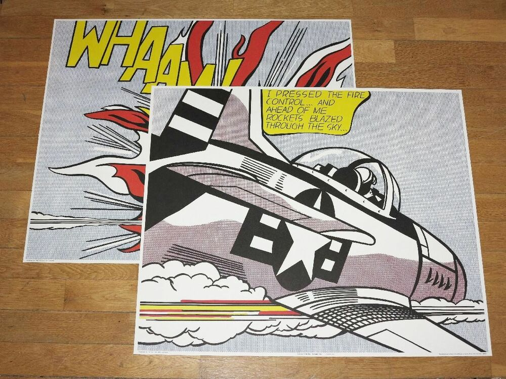 Roy lichtenstein poster set of 2 whaam both panels for Poster roy lichtenstein
