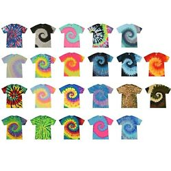 Kyпить Multi-Color Tie Dye T-Shirts, Adult S M L XL 2XL 3XL 4XL 5XL, 100% Cotton  на еВаy.соm