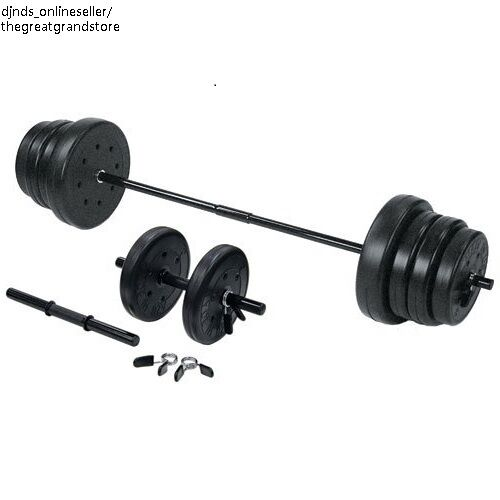 Exercise Barbell Dumbbell: Weight Lifting Equipment Set Barbell Dumbbell Workout Gym