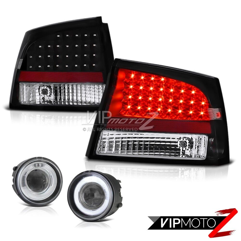 2006 2008 dodge charger projector halo foglights lamps. Black Bedroom Furniture Sets. Home Design Ideas