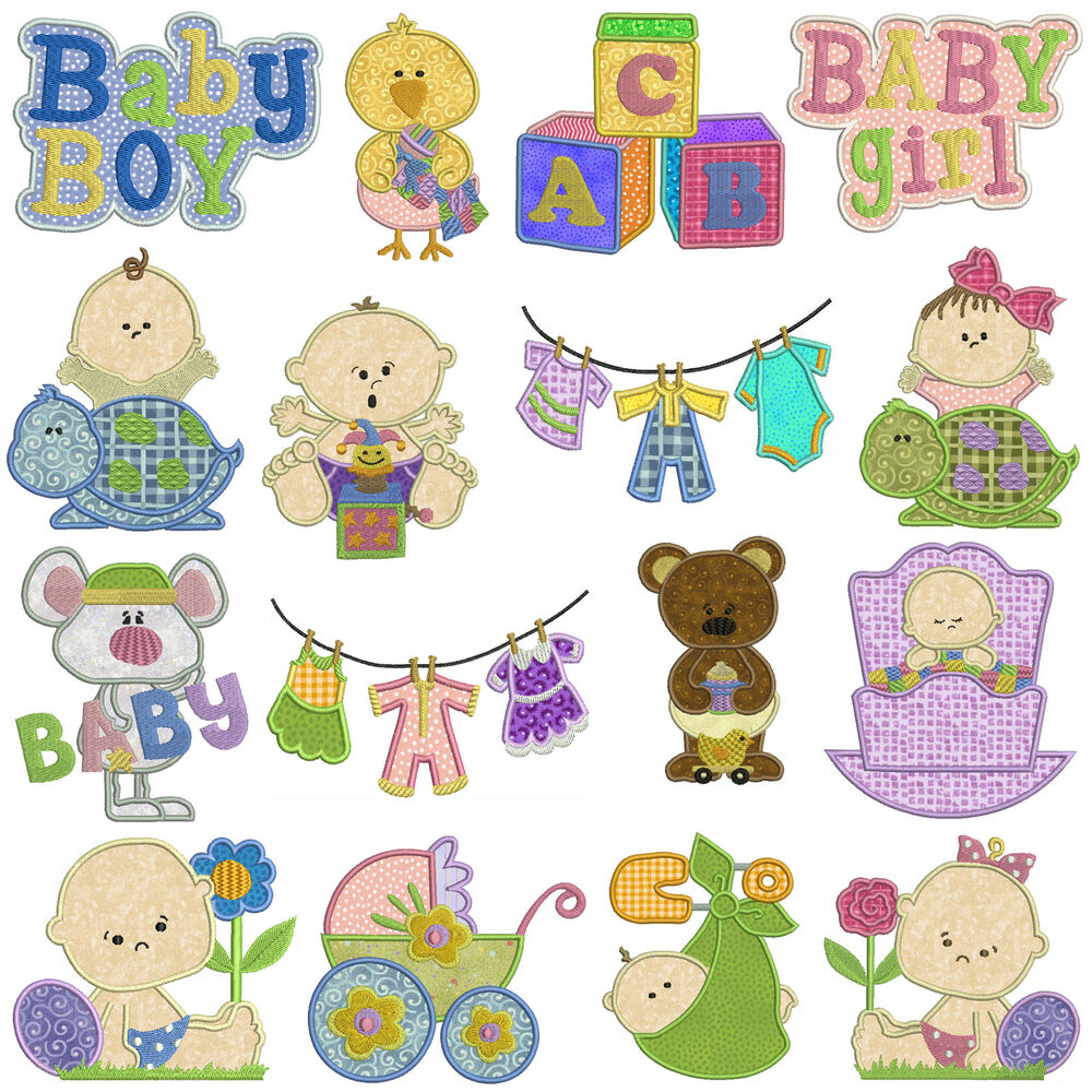 Baby machine applique embroidery patterns designs