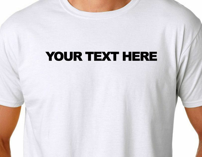 Personalized Custom T Shirt Small Thru 4xl Create Your