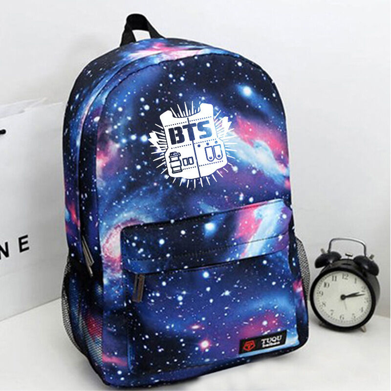 BTS KPOP Bangtan Boys Blue Bag Schoolbag Backpack KPOP New Jungkook