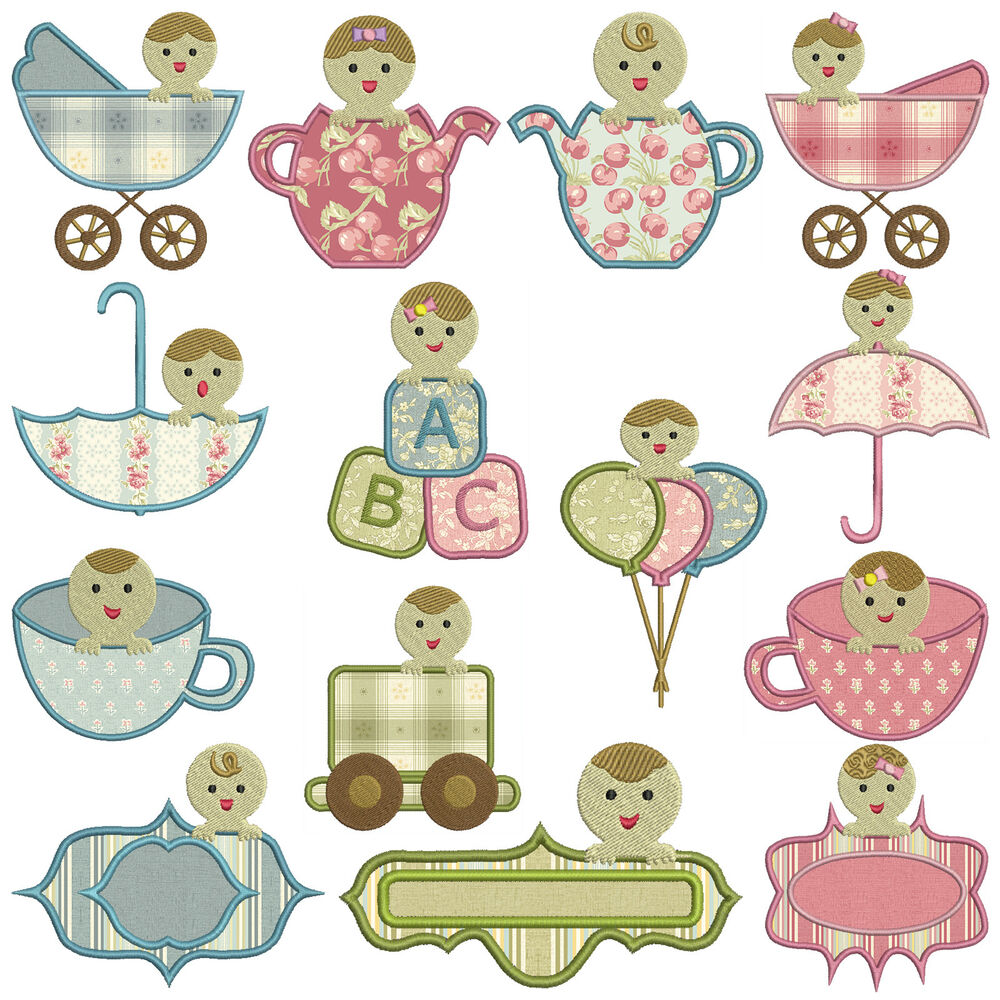 Peek a boo baby machine applique embroidery patterns