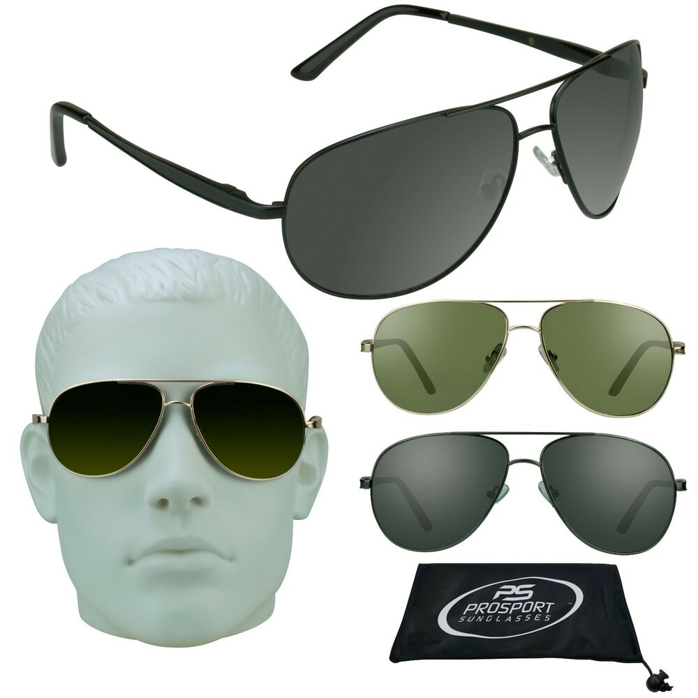 68a48907ea Aviator Big   Tall Sunglasses Extra Large Fit Wide Metal Frame XL Men Over  Size