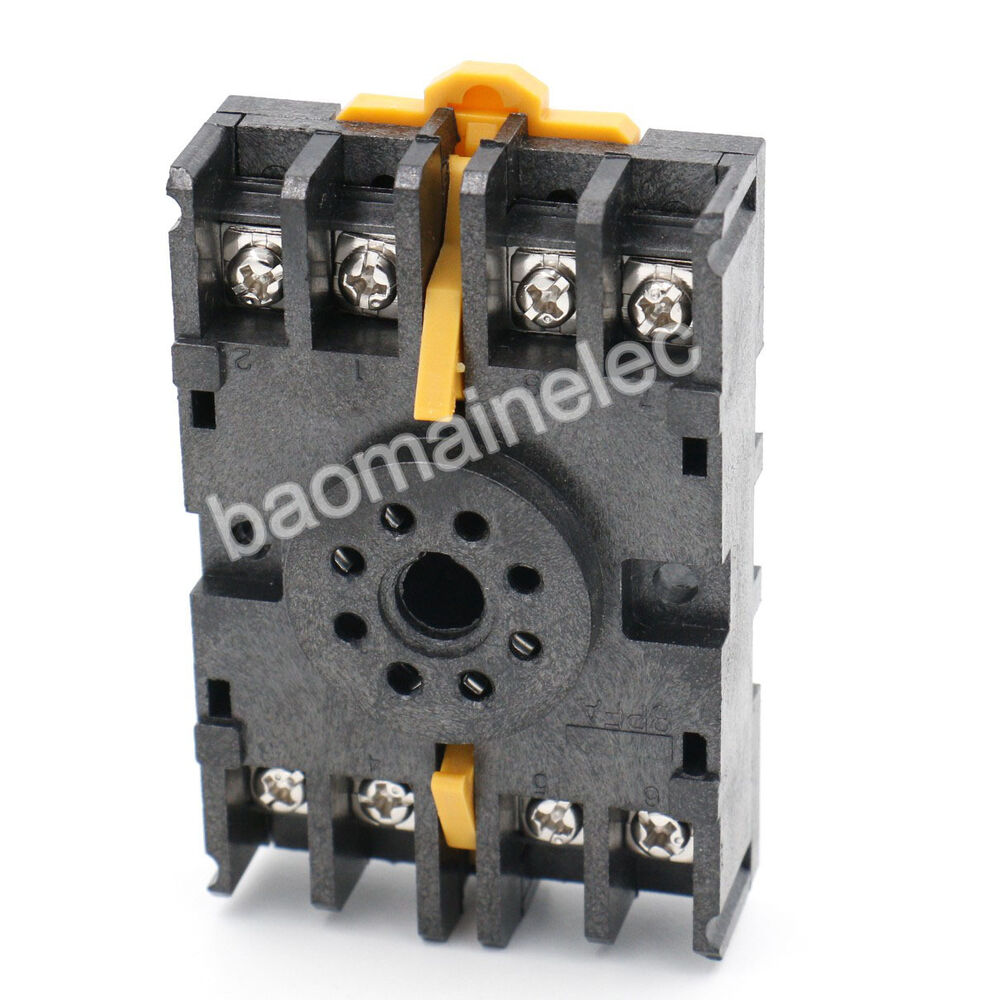Din Rail Mount 8pfa 8 Pin Timer Relay Socket Octal Base Screw For Ah3