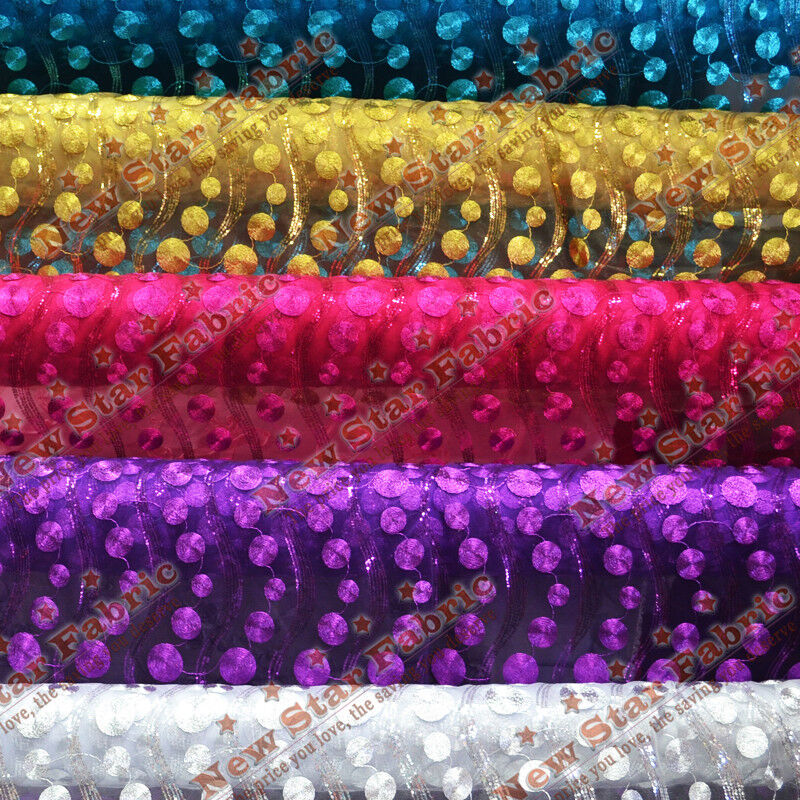 Metallic circle mesh fabric 54 wide by the yard home for Home decorating fabric by the yard