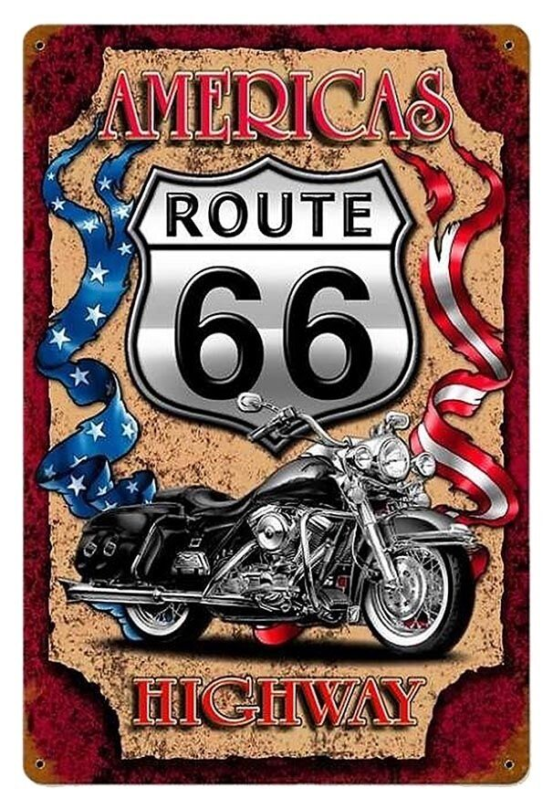mens t shirt route 66 sign ideal gift or birthday. Black Bedroom Furniture Sets. Home Design Ideas