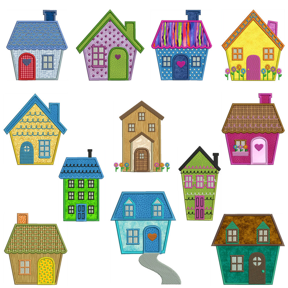 Home sweet home machine applique embroidery patterns for Home sweet home designs