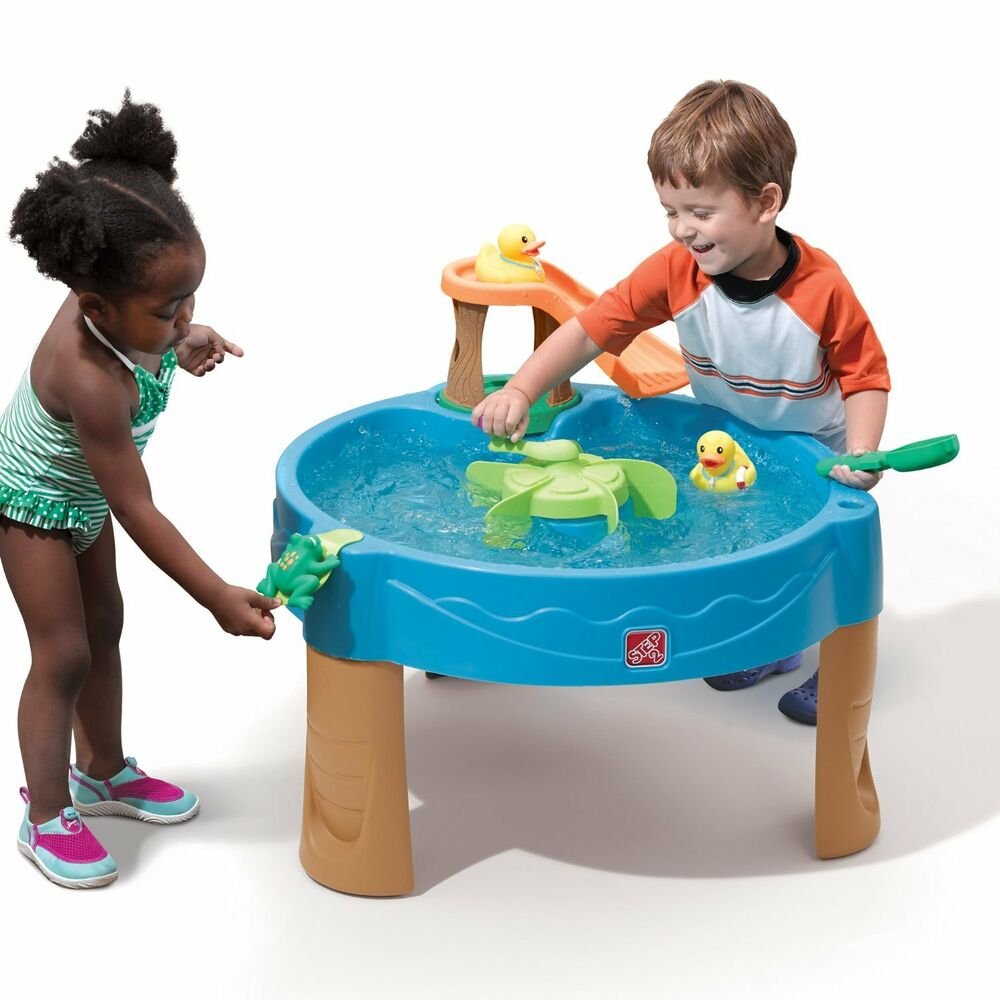 Playground Toys For Toddlers : Step kids water activity table toddler outdoor toys