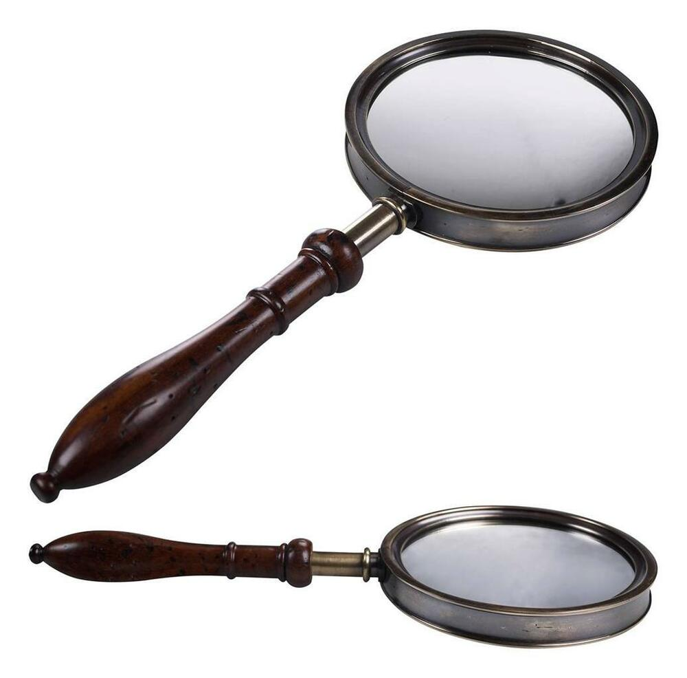 Victorian Vanity Hand Held Mirror Amp Magnifying Glass Solid