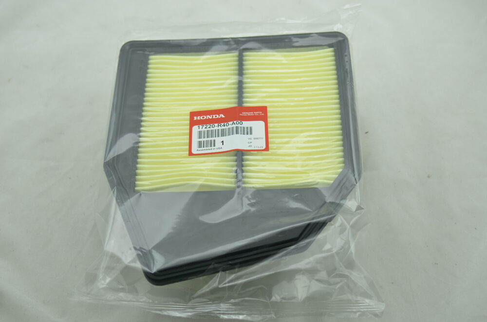 OEM HONDA ACCORD 4CYL 2.4L AIR FILTER CLEANER 17220-R40-A00 GENUINE CROSSTOUR | eBay