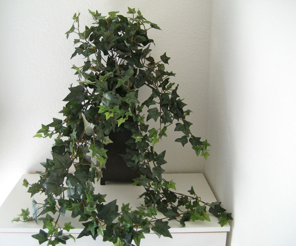 ivy leaf bush silk greenery plant home interiors decor new ebay