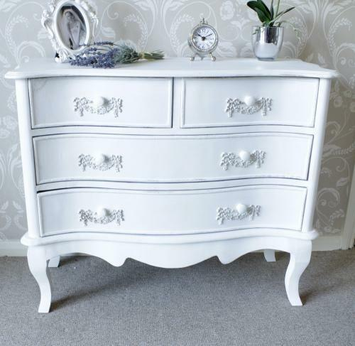 white chest of drawers vintage chic french shabby bedroom furniture
