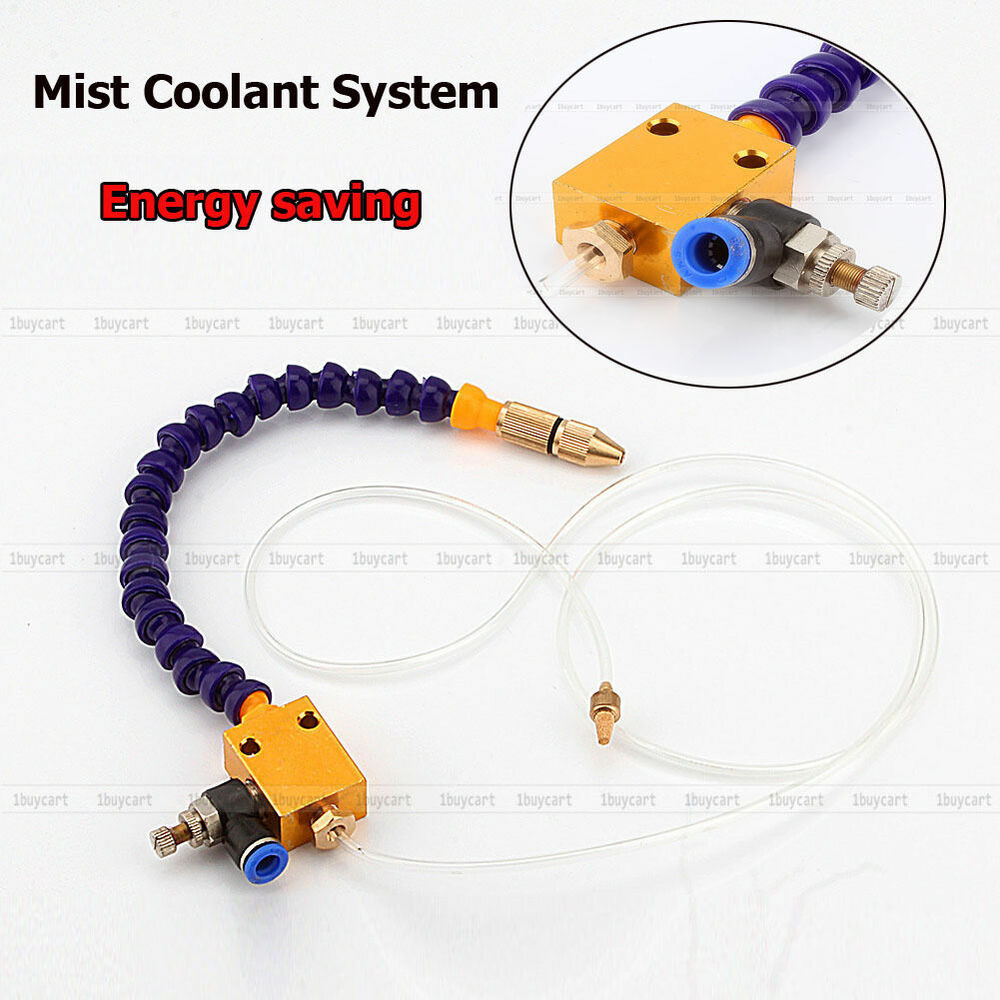 Mist Cooling System : Energy saving mist lubrication coolant system for lathe