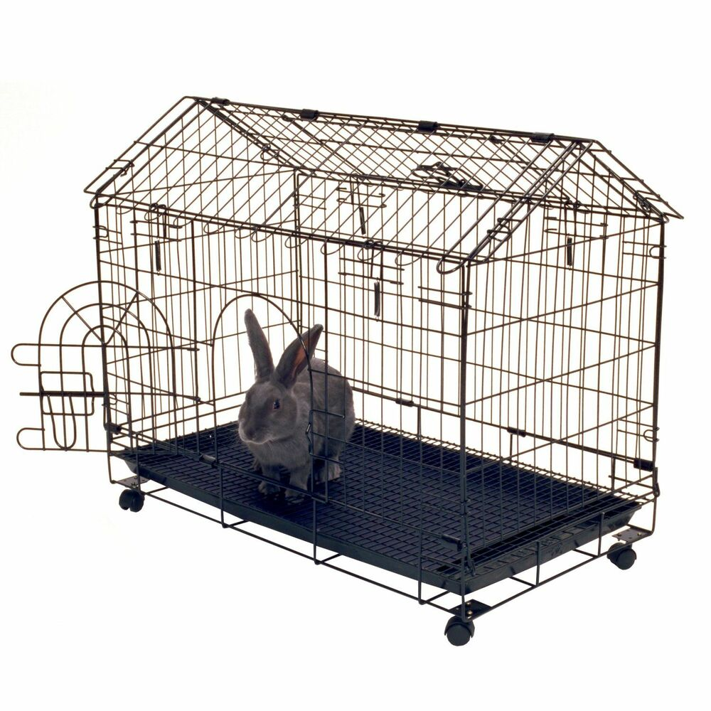 Rabbit house cage indoor outdoor bunny crate small pet for Rabbit house images