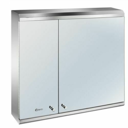 Luxury 3 door stainless steel bathroom mirror cabinet ebay for Bathroom mirror cupboard