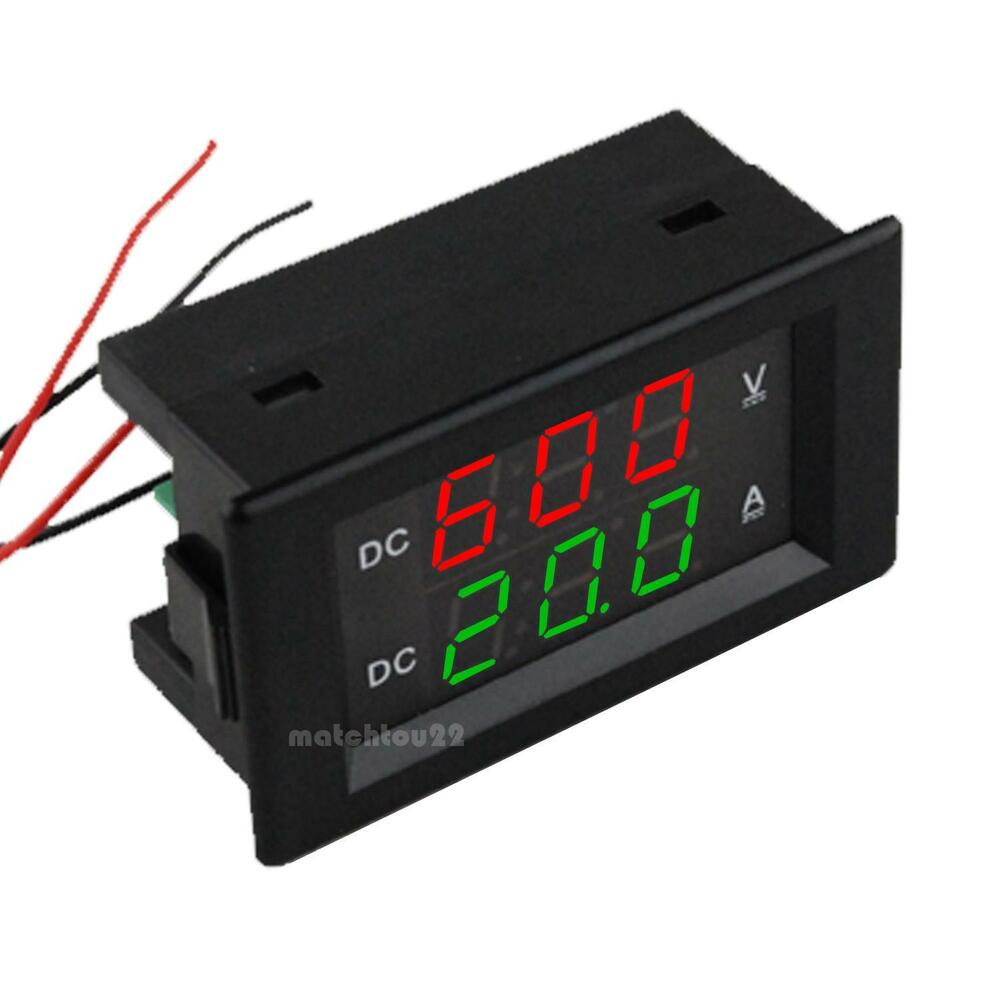 dual led digital dc600v 20a voltmeter ammeter. Black Bedroom Furniture Sets. Home Design Ideas