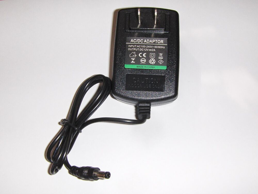 Ac Dc Adapter 110ac To 12 Volts Dc 2 Amp Use For 12 V Led