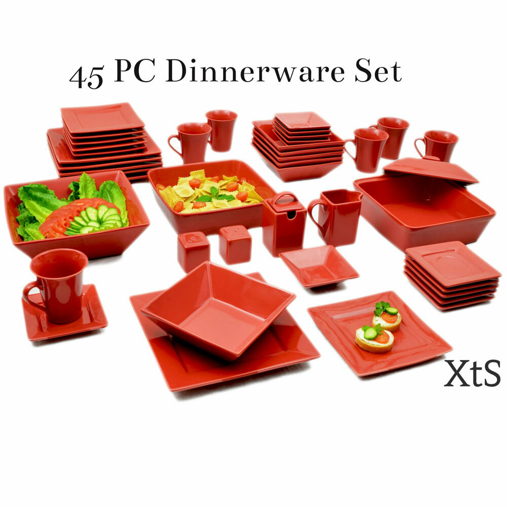 Elegant Dinner Ware Set Dinner Plates Bowls Casual Dishes